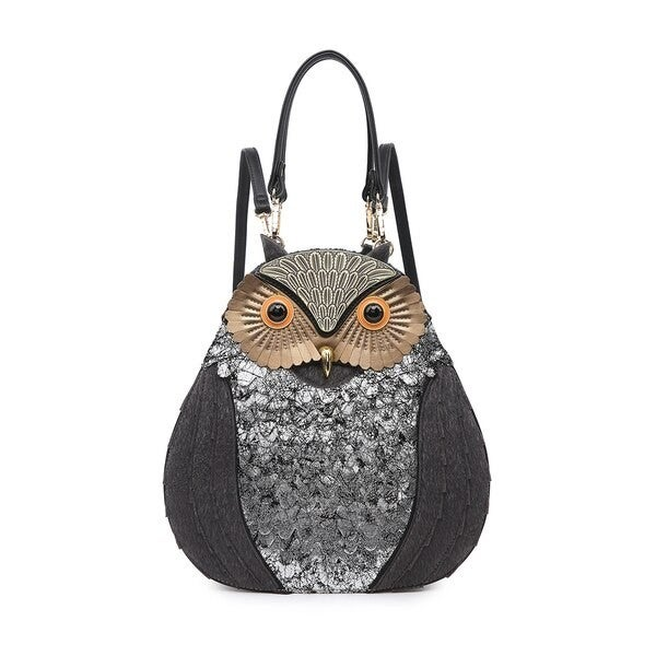 Owl Faux Fur Backpack/Satchel