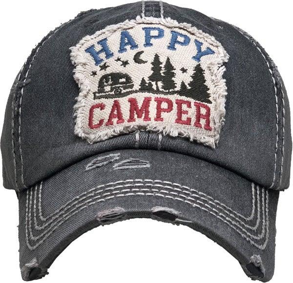 HAPPY CAMPER VINTAGE BALLCAP