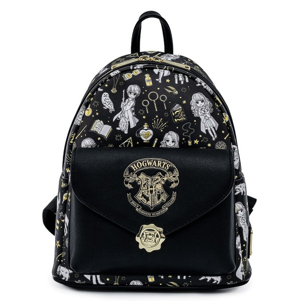 LOUNGEFLY HARRY POTTER MAGICAL ELEMENTS AOP MINI BACKPACK (PRE-ORDER, MAY 2021)