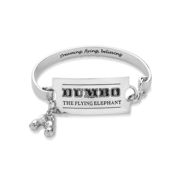 COUTURE KINGDOM Disney Dumbo Circus Ticket Bangle BRACELET - WHITE GOLD