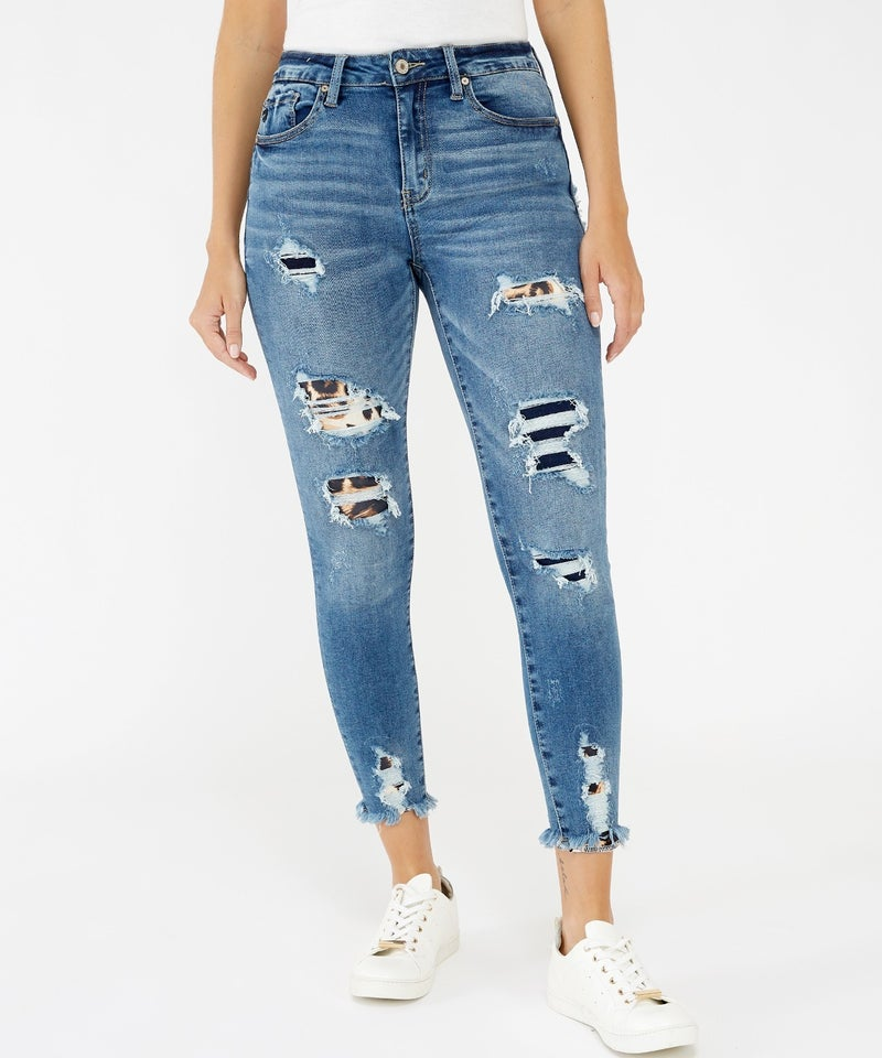 KanCan High Rise Ankle Skinny Jeans