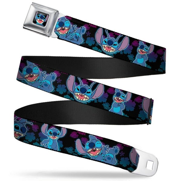 BUCKLE DOWN STITCH SMILING CLOSE-UP SEATBELT BELT