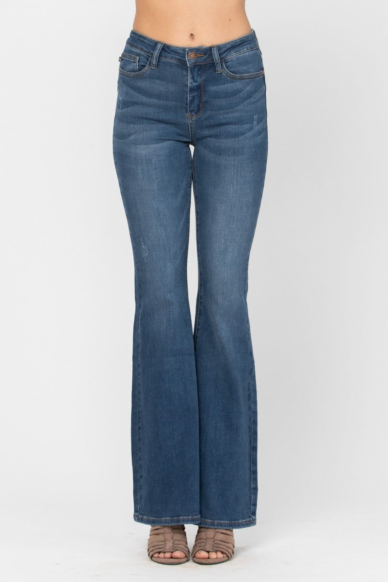 JUDY BLUE  HIGH RISE FLARE