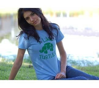 I LIKE TURTLES GRAPHIC T - JUNIORS SIZING