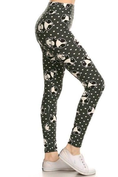 PANDA LOVE PRINT LEGGINGS