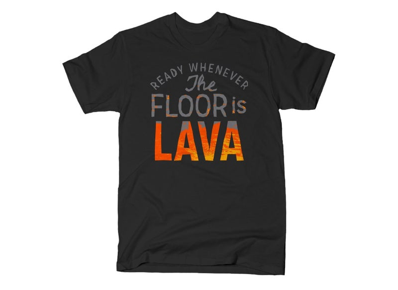 THE FLOOR IS LAVA GRAPHIC TEE