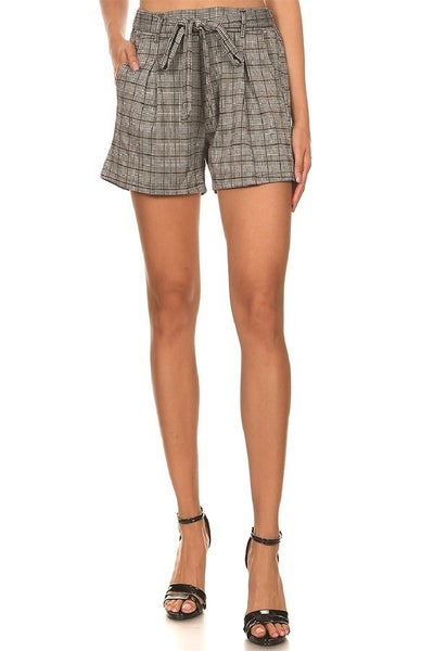 CHECKER PRINTED KNIT SHORTS
