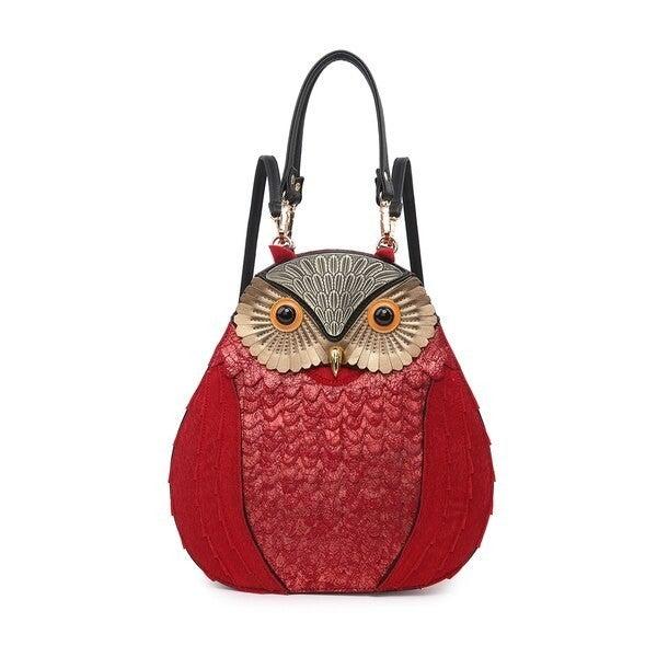 Owl Faux Fur Backpack/Satchel