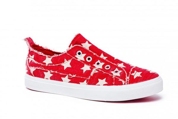 CORKYS BABALU SNEAKERS - RED STARS