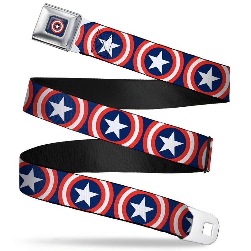 BUCKLE DOWN CAPTAIN AMERICA SEATBELT BELT