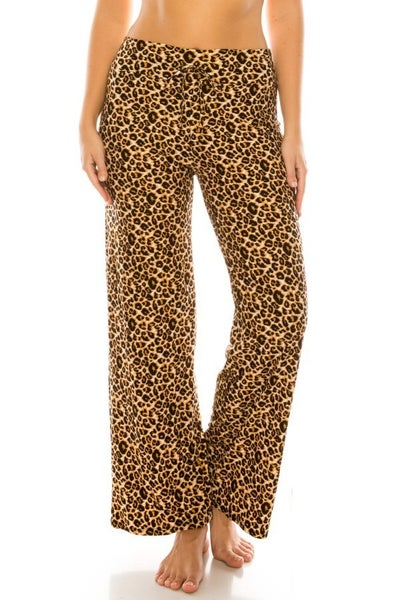 BUTTERY SOFT LEOPARD PAJAMA BOTTOMS