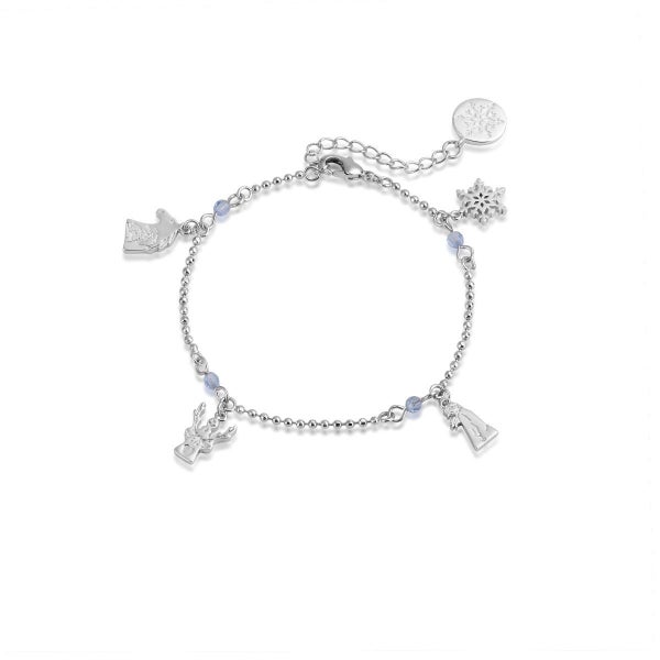COUTURE KINDOM FROZEN CHARM BRACELET - WHITE GOLD