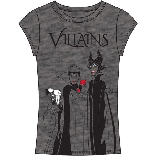 DISNEY Junior Fashion Top Villains, Charcoal Gray