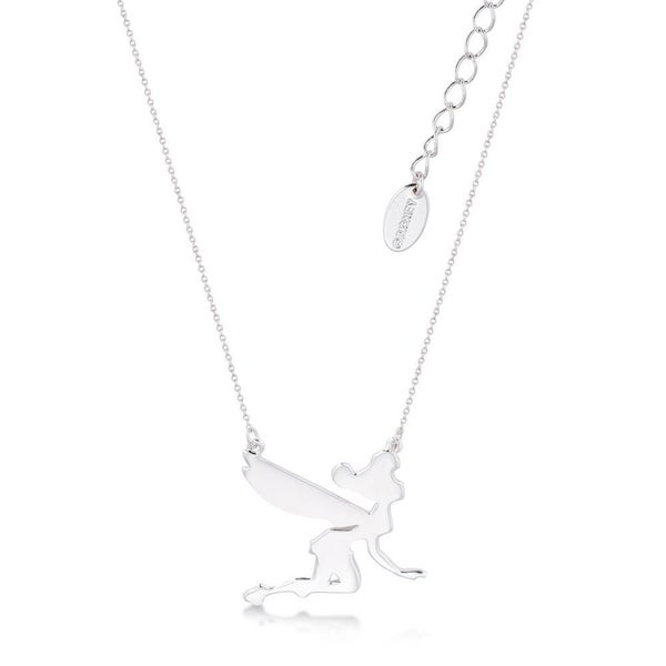 COUTURE KINGDOM Disney Tinker Bell Silhouette Necklace - WHITE GOLD