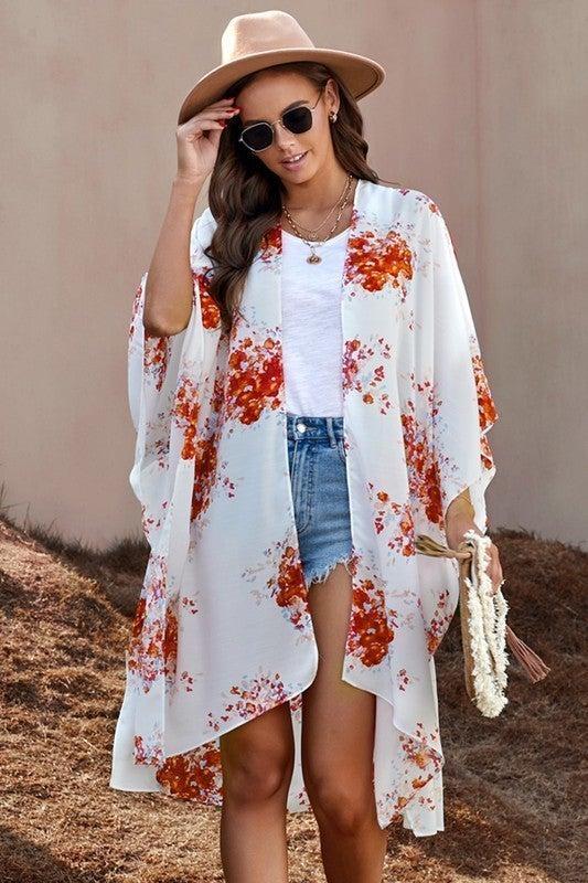 Kimono Sleeves Chiffon Loose Beach Cover Up