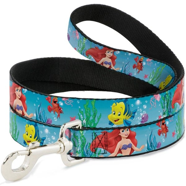 BUCKLE DOWN DOG LEASH - ARIEL, SEBASTIAN & FLOUNDER SCENE2