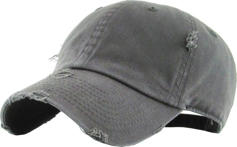SOLID COLOR VINTAGE WASHED BALLCAP HAT