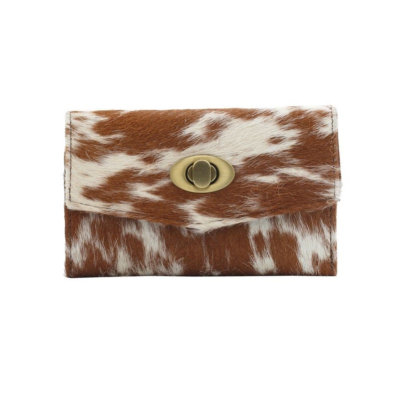 KITTY PARTY LEATHER AND HAIRON WALLET