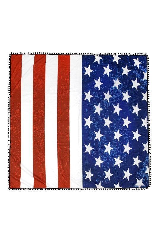 SQUARE FLAG MICROFIBER BEACH TOWEL