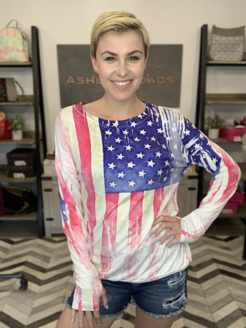 BLUMIN AMERICAN FLAG PRINTED TOP