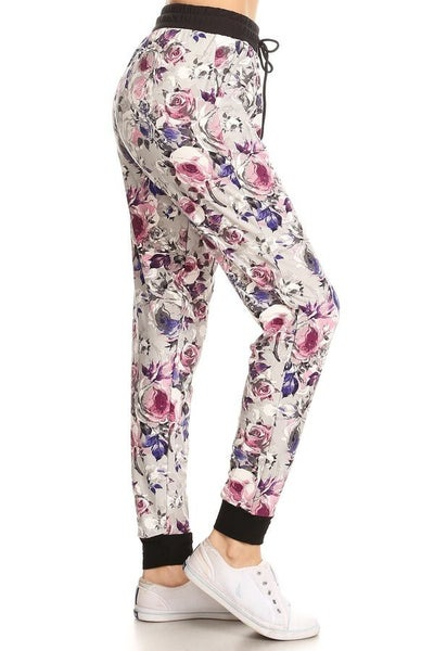 BUTTERY SOFT FLORAL JOGGERS