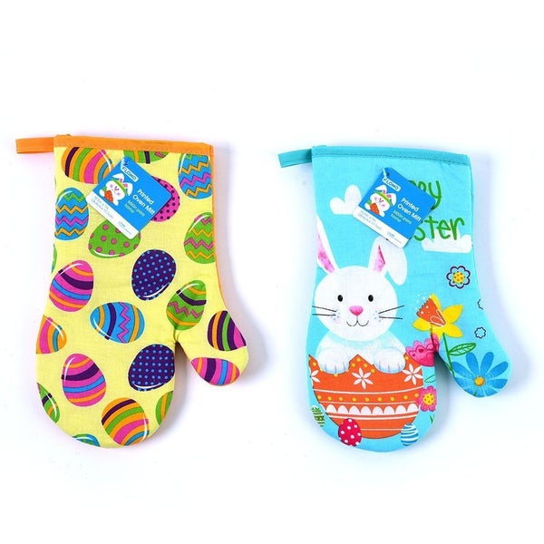 Easter Printed Oven Mitts
