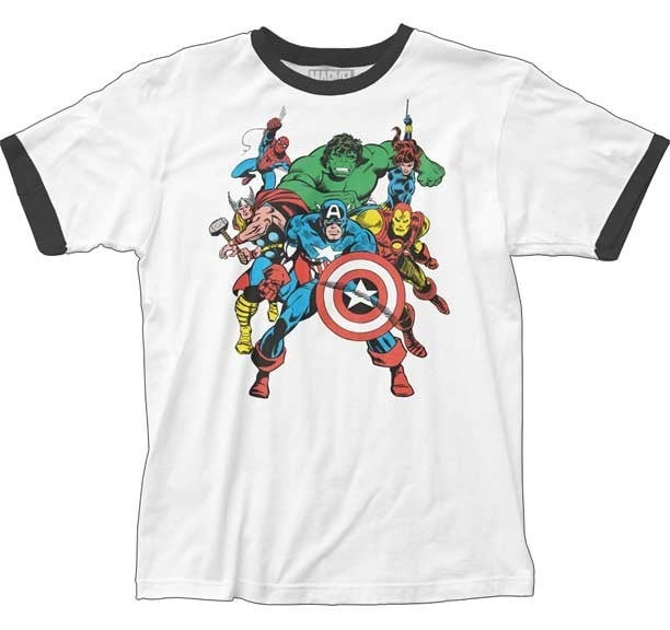THE AVENGERS RINGER GRAPHIC TEE