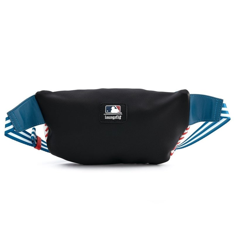 LOUNGEFLY X MLB LA DODGERS BASEBALL STITCH FANNY PACK