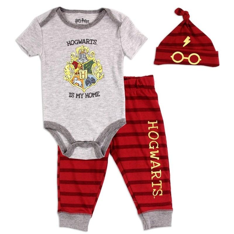 HARRY POTTER Boys Newborn 3-Piece Hat Set