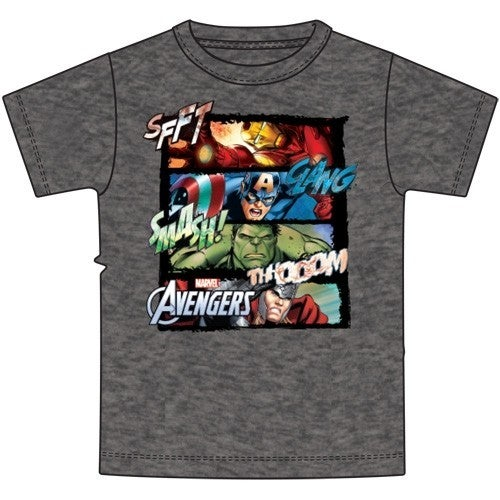Youth T-Shirt Four Square Marvel Group, Black Heather
