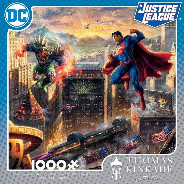 DC COMICS JUSTICE LEAGUE THOMAS KINKADE 1,000 PIECE PUZZLES