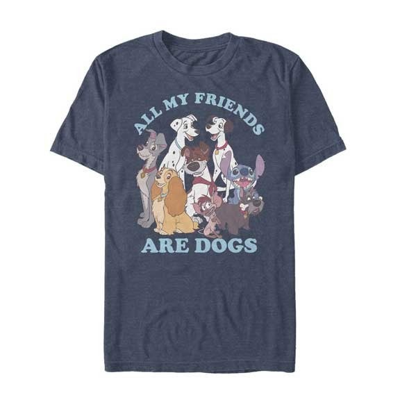 DISNEY ALL MY FRIENDS ARE DOGS GRAPHIC TEE