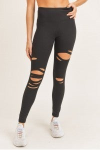 Mono B Laser-Cut Highwaist Leggings