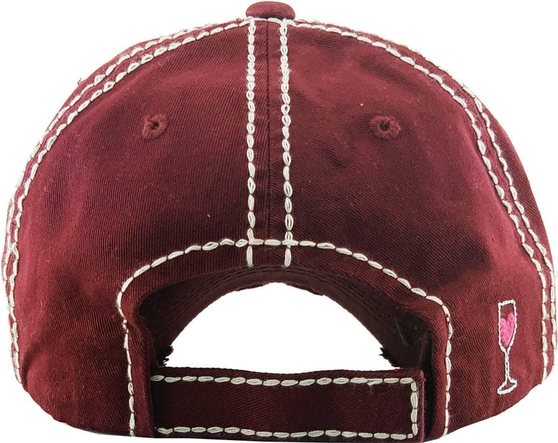 FOR THE LOVE OF WINE WASHED VINTAGE BALLCAP HAT