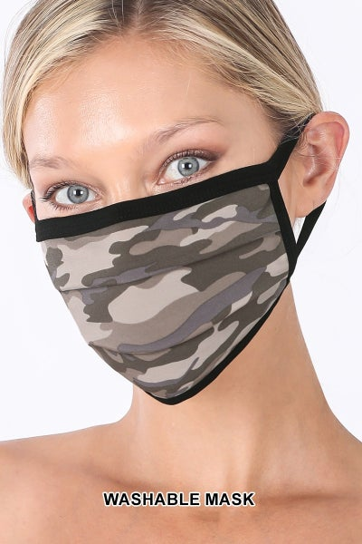 CAMO WASHABLE FACE COVERING