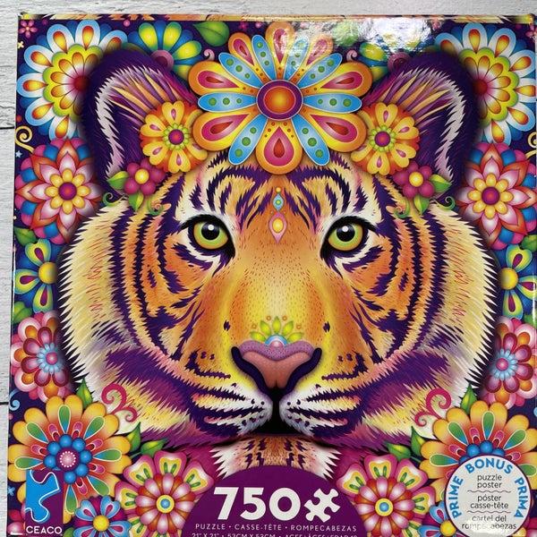 CEACO PSYCHEDELIC ANIMAL PUZZLES, 750 PIECES