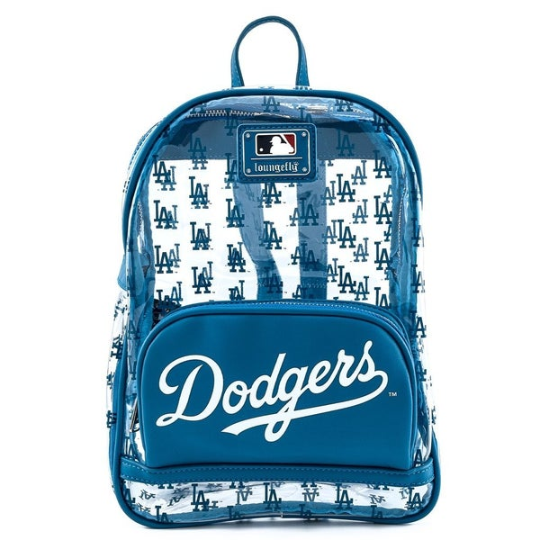 LOUNGEFLY X MLB LA DODGERS CLEAR AOP STADIUM BACKPACK