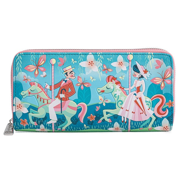 LOUNGEFLY DISNEY MARY POPPINS JOLLY HOLIDAY ZIP AROUND WALLET (PRE-ORDER, MAY 2021)