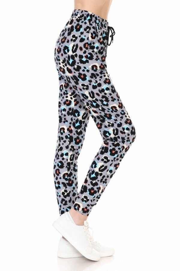 ANIMAL PRINT BUTTERY SOFT JOGGERS