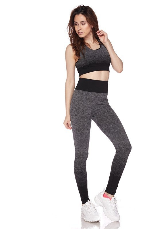 Marled Ombre Activewear Set