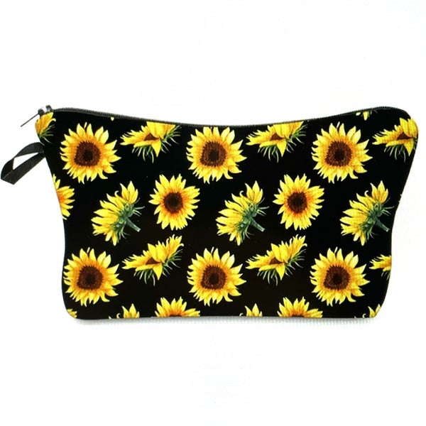 Sunflower Printed Make Up Bag