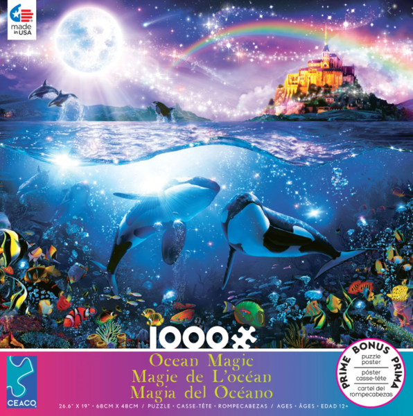 CEACO OCEAN MAGIC 1,000 PIECE PUZZLE