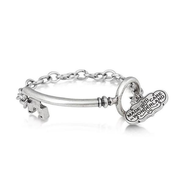 COUTURE KINGDOM ALICE IN WONDERLAND KEY BRACELET - WHITE GOLD
