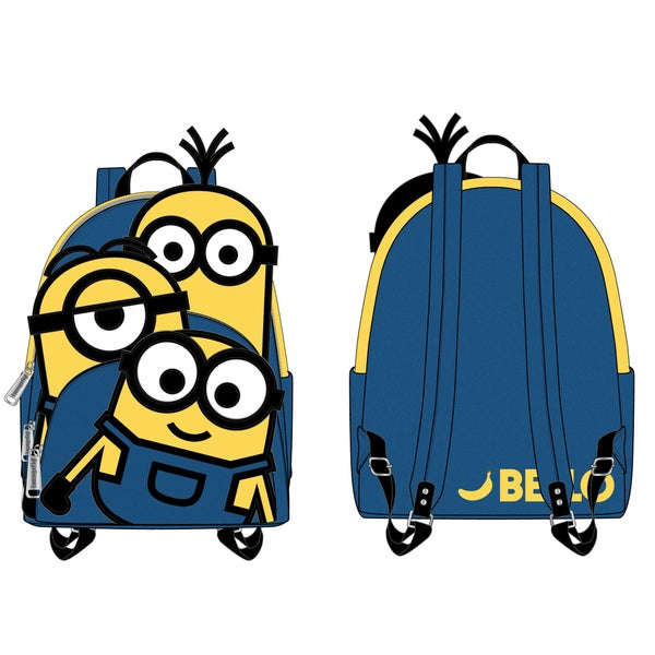 LOUNGEFLY MINIONS TRIPLE MINION BELLOW MINI BACKPACK (PRE-ORDER, JUNE 2021)