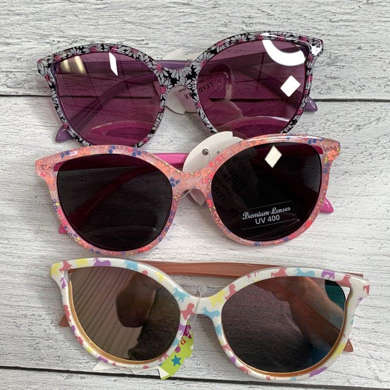 KIDS Pastel Colorful Multicolor Cateye Round Sunglasses