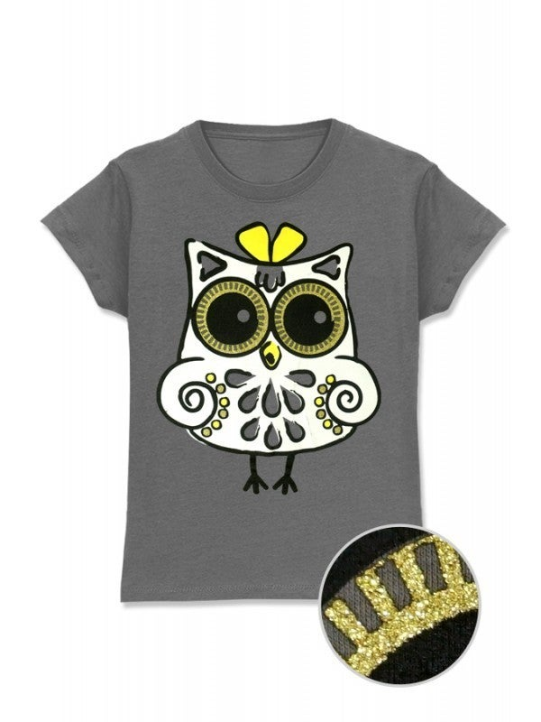 Girl's Printed Tee w/ cute OWL Print