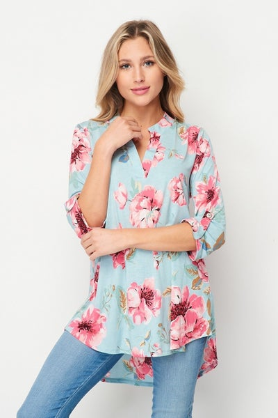 HONEYME FLORAL GABBY TOP