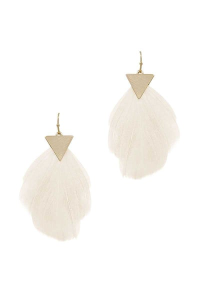FEATHER HOOK EARRING