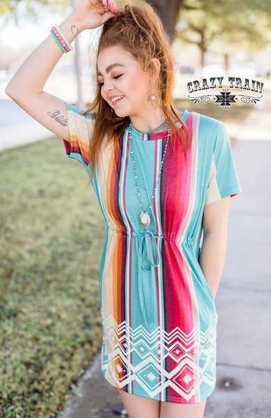 CRAZY TRAIN SAN DUNE SERAPE DRESS