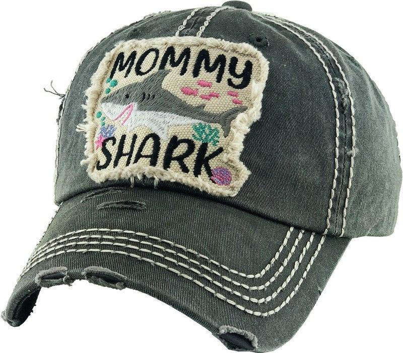 MOMMY SHARK VINTAGE BALLCAP HAT